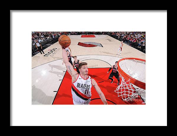 Meyers Leonard Framed Print featuring the photograph Meyers Leonard by Sam Forencich
