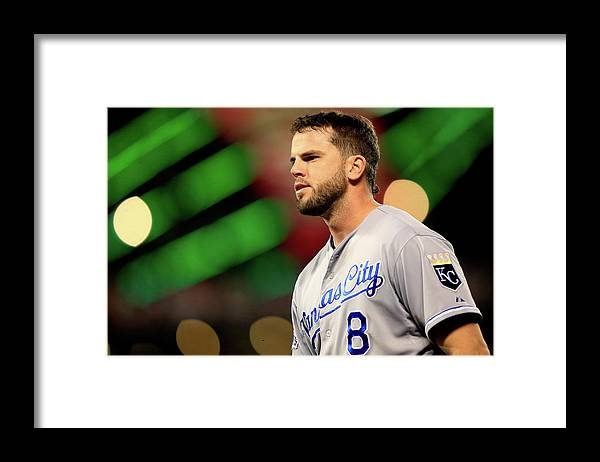 San Francisco Framed Print featuring the photograph Mike Moustakas by Jamie Squire