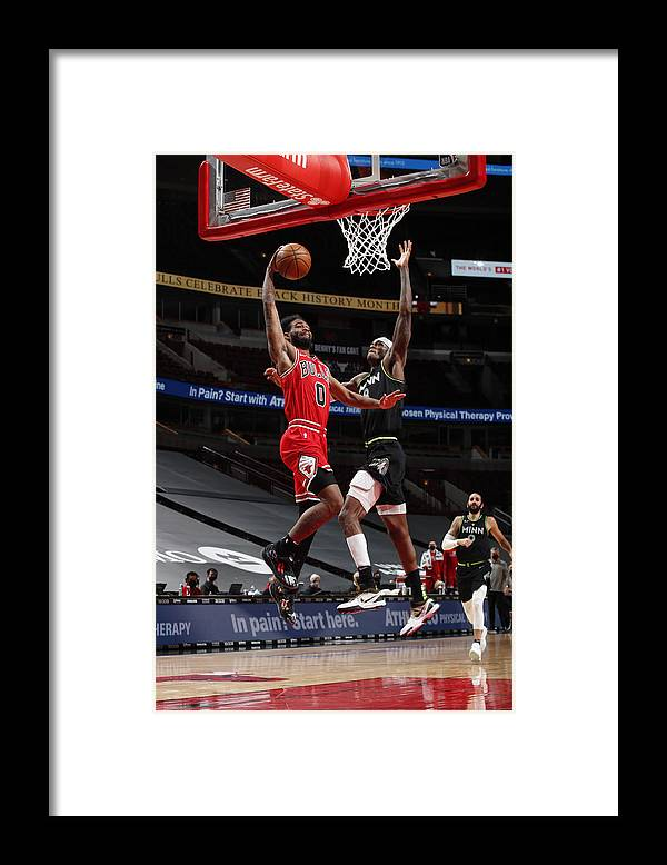 Coby White Framed Print featuring the photograph Minnesota Timberwolves v Chicago Bulls by Jeff Haynes