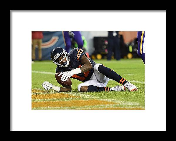 People Framed Print featuring the photograph Minnesota Vikings v Chicago Bears by Stacy Revere