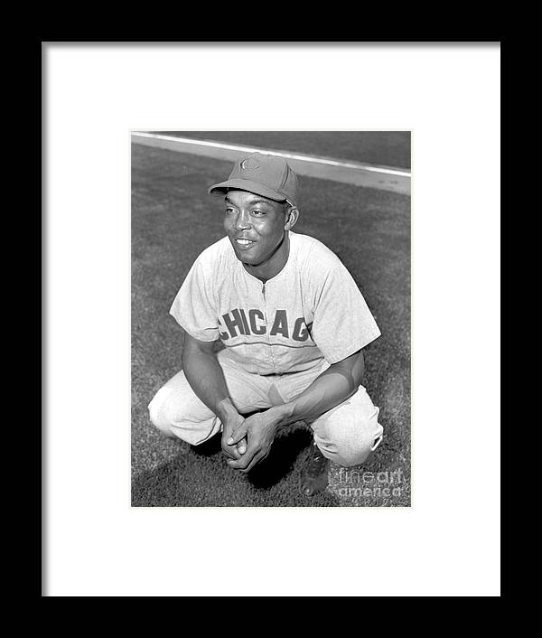 1950-1959 Framed Print featuring the photograph Monte Irvin by Kidwiler Collection