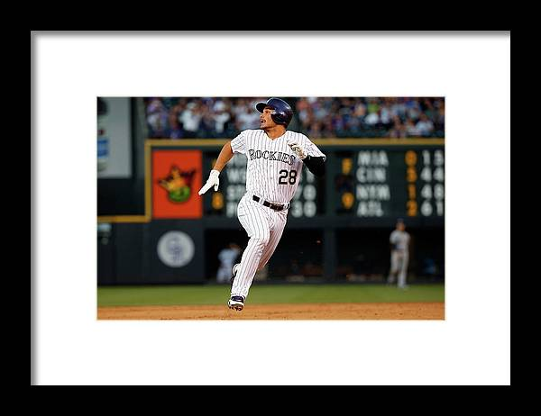 People Framed Print featuring the photograph Nolan Arenado by Doug Pensinger
