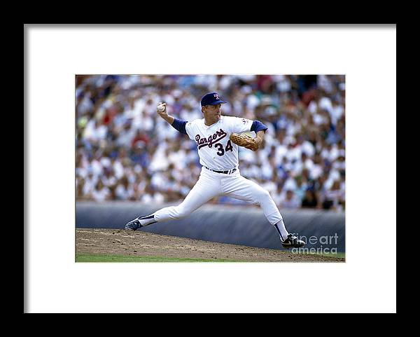 People Framed Print featuring the photograph Nolan Ryan by Rich Pilling
