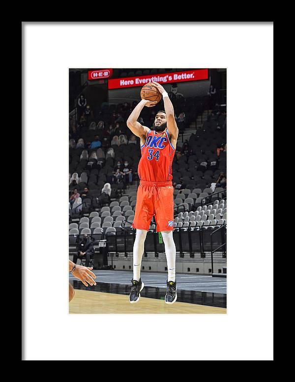 Nba Pro Basketball Framed Print featuring the photograph Oklahoma City Thunder vs. San Antonio Spurs by Logan Riely