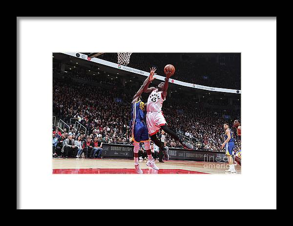 Playoffs Framed Print featuring the photograph Pascal Siakam by Nathaniel S. Butler