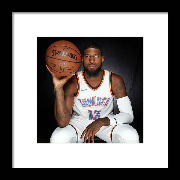 Media Day Framed Print featuring the photograph Paul George by Layne Murdoch