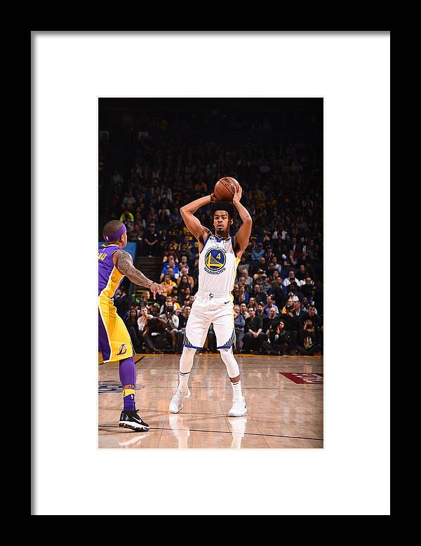 Nba Pro Basketball Framed Print featuring the photograph Quinn Cook by Noah Graham