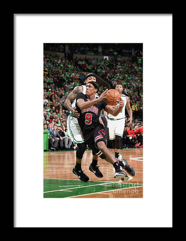 Playoffs Framed Print featuring the photograph Rajon Rondo by Brian Babineau