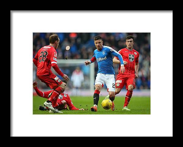Sports Ball Framed Print featuring the photograph Rangers v St Mirren - Scottish Championship by Ian MacNicol