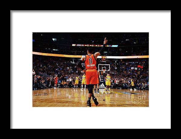 Crowd Framed Print featuring the photograph Russell Westbrook by Bart Young
