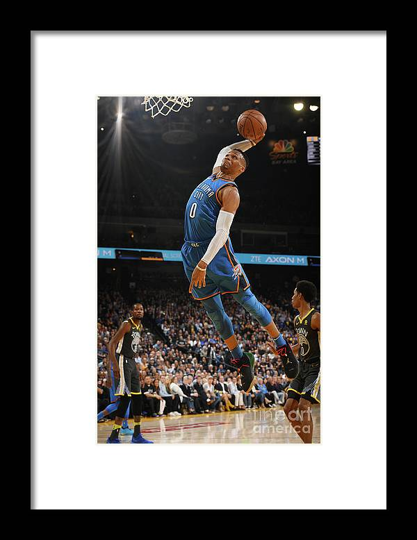 Nba Pro Basketball Framed Print featuring the photograph Russell Westbrook by Garrett Ellwood