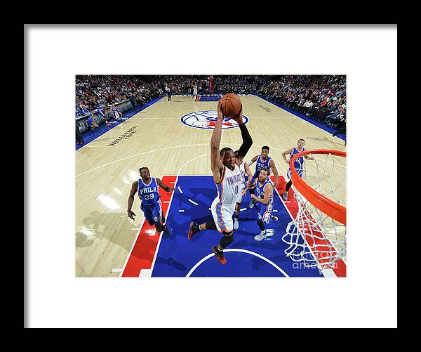 Nba Pro Basketball Framed Print featuring the photograph Russell Westbrook by Jesse D. Garrabrant