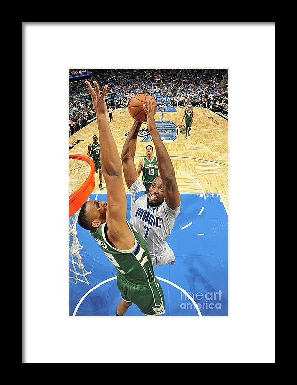 Nba Pro Basketball Framed Print featuring the photograph Serge Ibaka by Fernando Medina