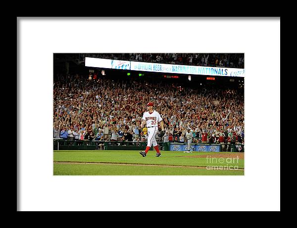 Stephen Strasburg Framed Print featuring the photograph Stephen Strasburg by Greg Fiume