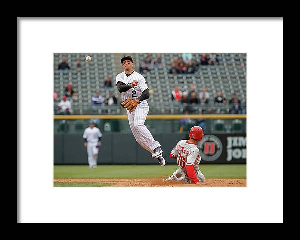 Double Play Framed Print featuring the photograph Troy Tulowitzki by Doug Pensinger