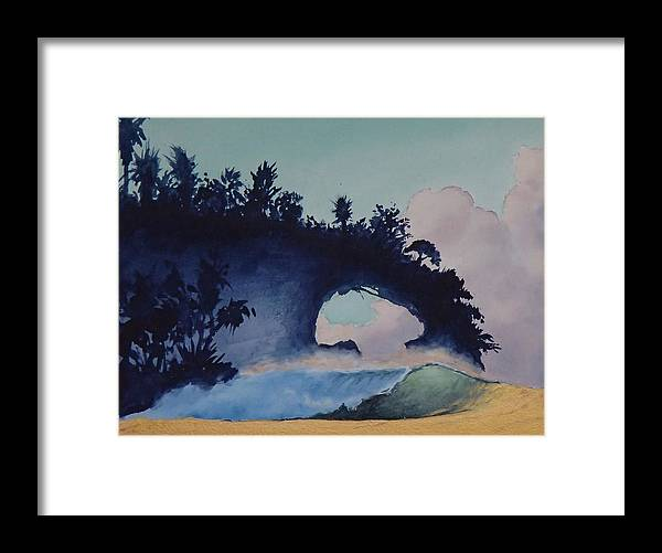 Ocean Framed Print featuring the painting Untitled 4 by Philip Fleischer