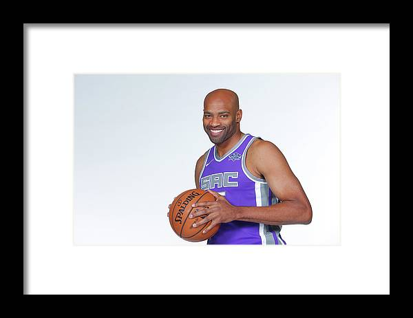 Media Day Framed Print featuring the photograph Vince Carter by Rocky Widner