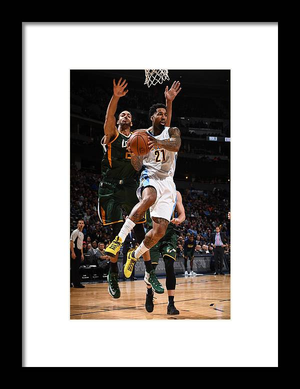 Nba Pro Basketball Framed Print featuring the photograph Wilson Chandler by Garrett Ellwood