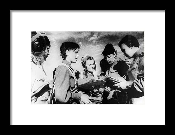 War Framed Print featuring the photograph World War II, 1942 by Tass