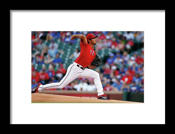 American League Baseball Framed Print featuring the photograph Yu Darvish by Tom Pennington
