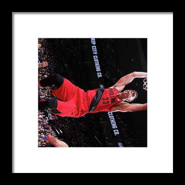 Nba Pro Basketball Framed Print featuring the photograph Zach Collins by Sam Forencich
