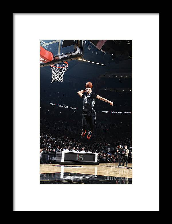 Event Framed Print featuring the photograph Zach Lavine by Nathaniel S. Butler