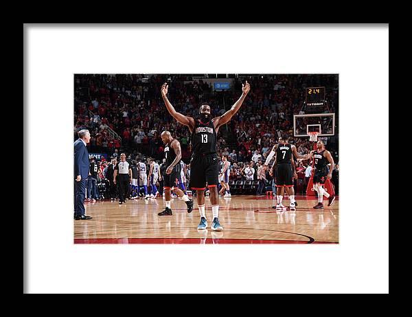 Nba Framed Print featuring the photograph James Harden by Bill Baptist