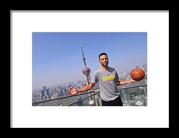 Event Framed Print featuring the photograph Stephen Curry by Noah Graham