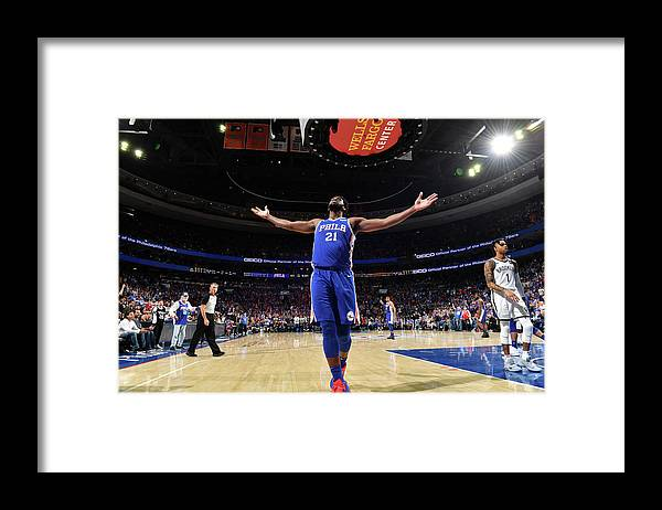 Playoffs Framed Print featuring the photograph Joel Embiid by Jesse D. Garrabrant