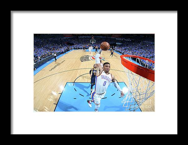 Playoffs Framed Print featuring the photograph Russell Westbrook by Layne Murdoch