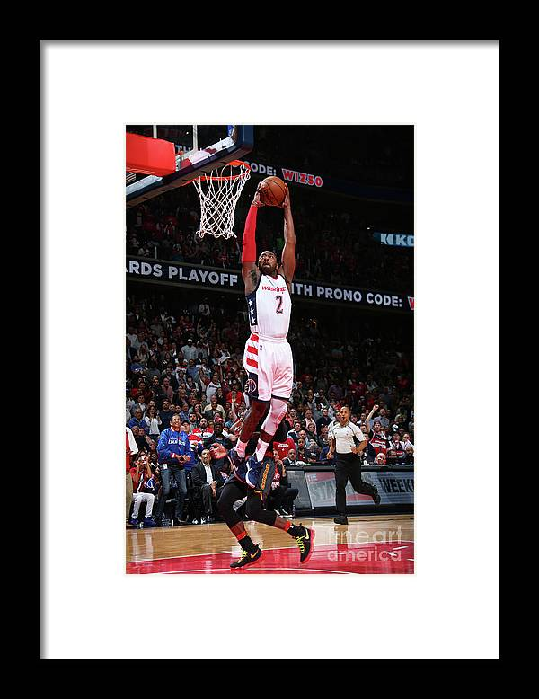 Playoffs Framed Print featuring the photograph John Wall by Ned Dishman