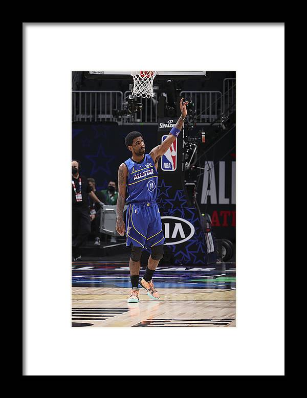 Atlanta Framed Print featuring the photograph Kyrie Irving by Nathaniel S. Butler