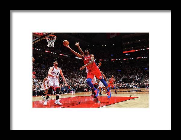 Playoffs Framed Print featuring the photograph Joel Embiid by Jesse D. Garrabrant
