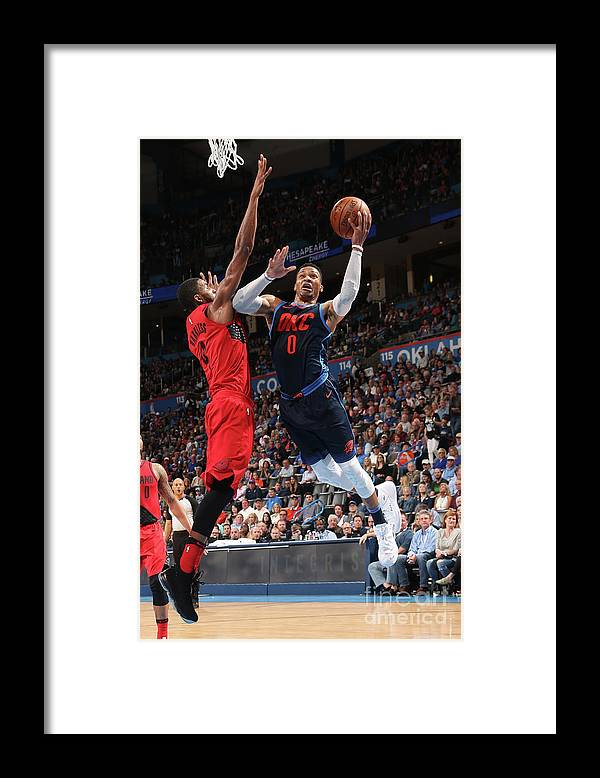 Drive Framed Print featuring the photograph Russell Westbrook by Layne Murdoch