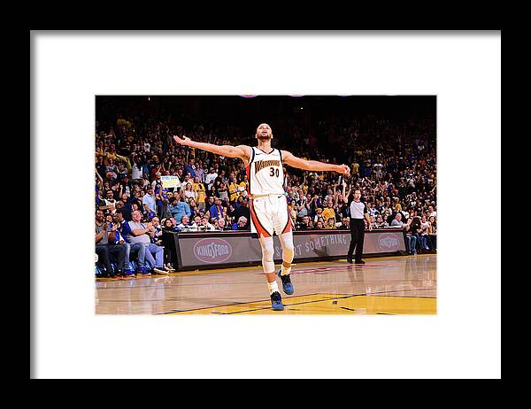 Crowd Framed Print featuring the photograph Stephen Curry by Noah Graham