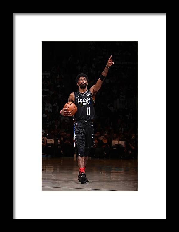 Playoffs Framed Print featuring the photograph Kyrie Irving by Nathaniel S. Butler