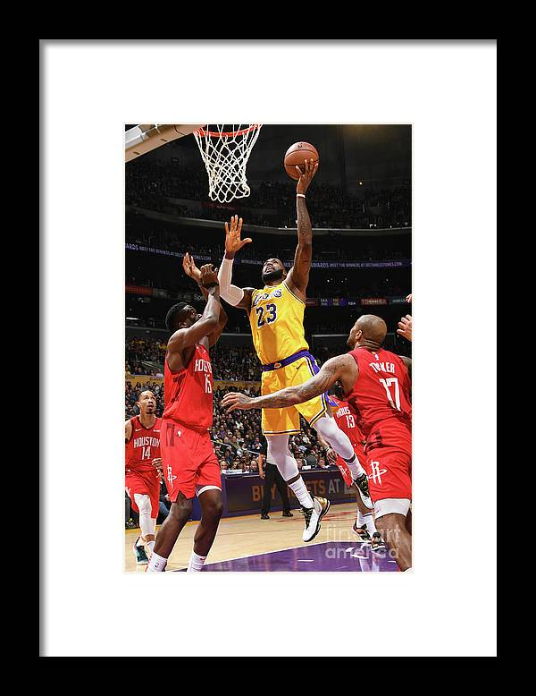 Nba Pro Basketball Framed Print featuring the photograph Lebron James by Andrew D. Bernstein