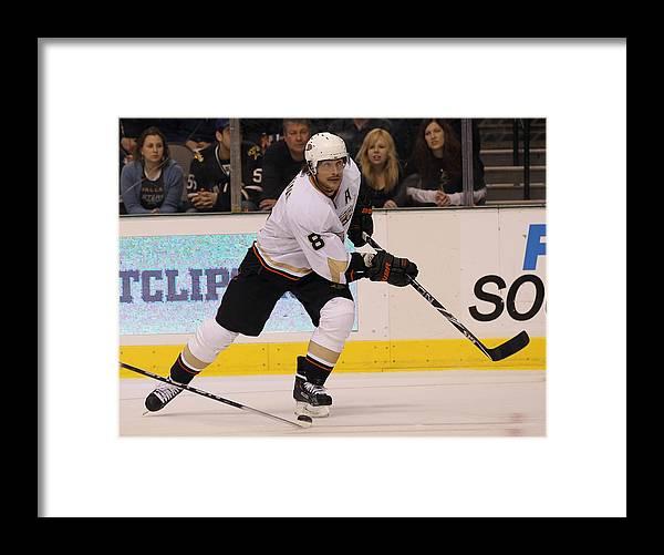 National Hockey League Framed Print featuring the photograph Anaheim Ducks v Dallas Stars by Bruce Bennett