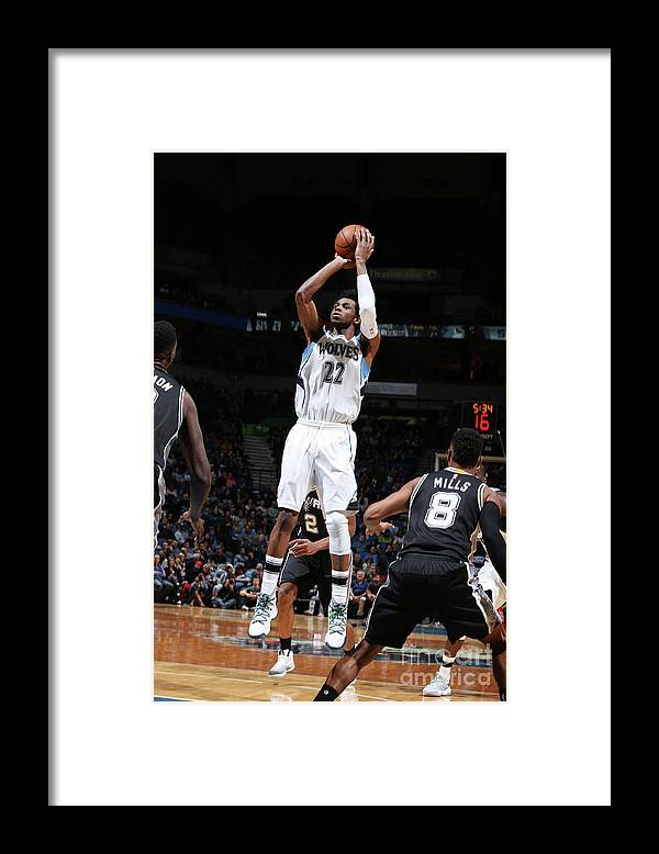 Nba Pro Basketball Framed Print featuring the photograph Andrew Wiggins by David Sherman