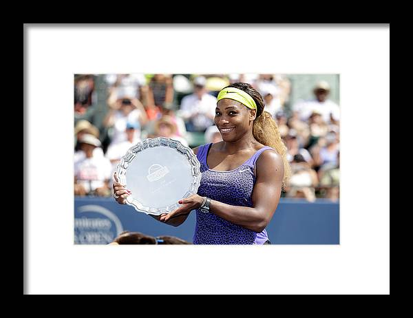 Tennis Framed Print featuring the photograph Bank of the West Classic - Day 7 by Ezra Shaw