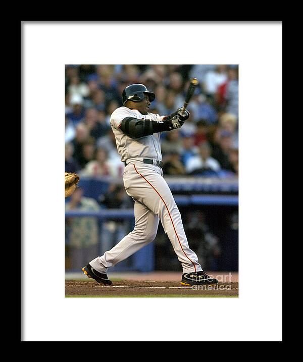 California Framed Print featuring the photograph Barry Bonds by Kirby Lee