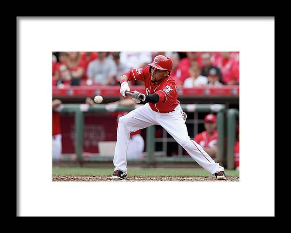 Great American Ball Park Framed Print featuring the photograph Billy Hamilton by Andy Lyons