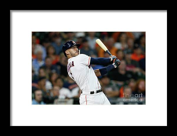 Three Quarter Length Framed Print featuring the photograph Carlos Correa by Bob Levey