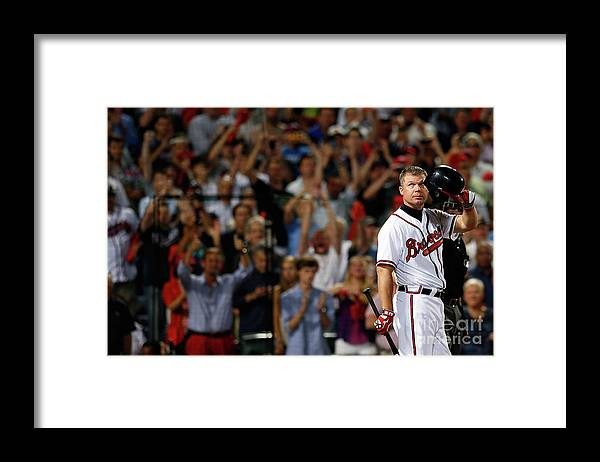 Atlanta Framed Print featuring the photograph Chipper Jones by Kevin C. Cox