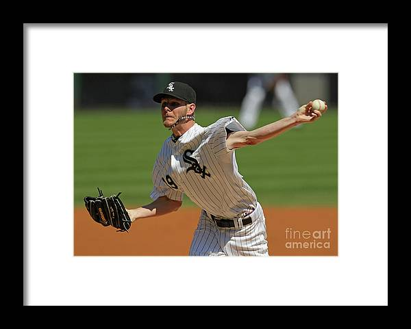 American League Baseball Framed Print featuring the photograph Chris Sale by Jonathan Daniel