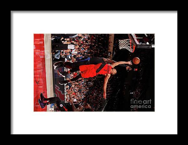 Nba Pro Basketball Framed Print featuring the photograph C.j. Mccollum by Cameron Browne