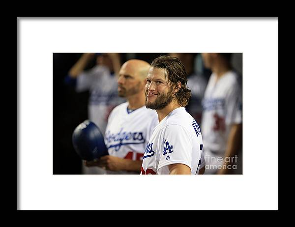 People Framed Print featuring the photograph Clayton Kershaw by Sean M. Haffey