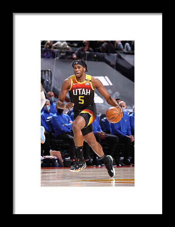 Nba Pro Basketball Framed Print featuring the photograph Dallas Mavericks v Utah Jazz by Melissa Majchrzak