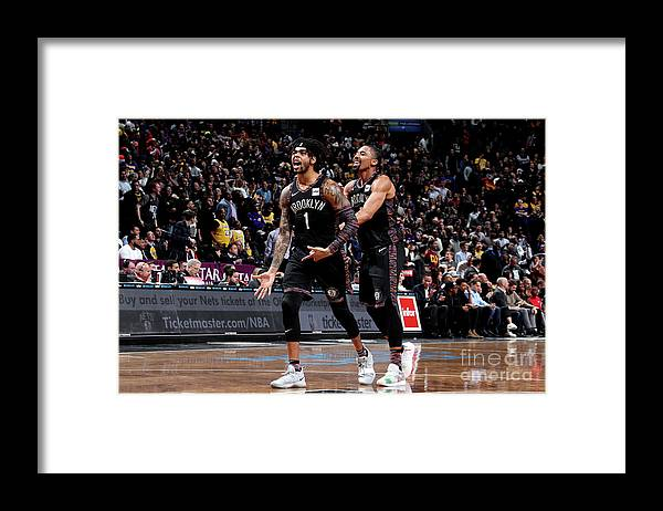 Nba Pro Basketball Framed Print featuring the photograph D'angelo Russell by Nathaniel S. Butler