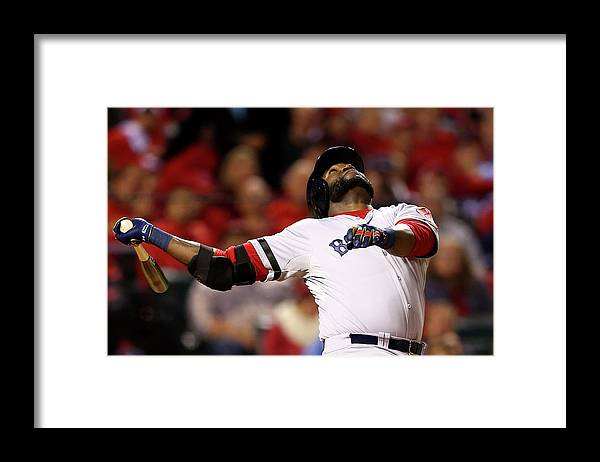 American League Baseball Framed Print featuring the photograph David Ortiz by Elsa